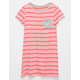 FULL TILT Contrast Striped Girls Pocket Dress