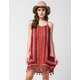 ANGIE Printed Fringe Tassel Dress