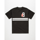 BLACK SCALE Classic B Feather Mens T-Shirt