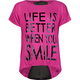 FULL TILT Life Is Better Mesh Back Girls Tee