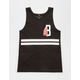BLACK SCALE Classic B Feather Mens Tank