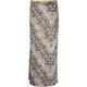 FULL TILT Abstract Feather Print Maxi Skirt