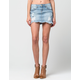 ZCO Destructed Cutoff Womens Denim Skirt