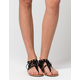 CELEBRITY NYC Ankle Fringe Womens Sandals