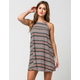 LOVE FIRE Striped High Neck Dress