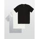 ALTAMONT 3 Pack Solid Mens T-Shirts