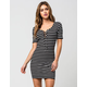 FULL TILT Lace Up Striped Dress