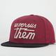 US VERSUS THEM Magnum Fleece Mens Snapback Hat