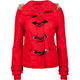 FULL TILT Fur Trim Womens Hooded Toggle Jacket
