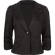 FULL TILT 1 Button Womens Ponte Blazer