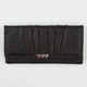 Pleated Faux Leather Wallet