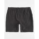NITROUS BLACK Captain Mens Elastic Waist Shorts