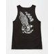 SANTA CRUZ Pray For Me Skeleton Mens Tank