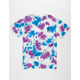 DEATHWISH Gang Logo Tie Dye Mens T-Shirt