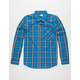 LRG RC Poplin Plaid Mens Shirt