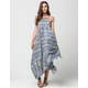 VOLCOM Thumb Print High Neck Maxi Dress