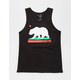 BLUE CROWN Cali Bear Mens Tank