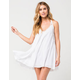 ELAN Crochet Side Coverup Dress