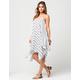 BLU PEPPER Woven Print Coverup Dress