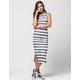 SEA GYPSIES Striped Midi Dress