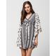 ANGIE Paisley Print Caftan Dress