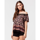 PATRONS OF PEACE Ditsy Floral Womens Top