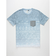 UNIVIBE Rivers Edge Mens Pocket Tee