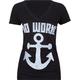BIG BLACK Anchors Away Womens Tee