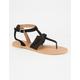 QUPID Chiffon Bow Womens Sandals
