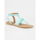 QUPID Chiffon Bow Womens Sandals