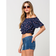 FULL TILT Ditsy Off The Shoulder Womens Top