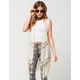 SAY WHAT? Woven Crochet Womens Vest