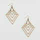 FULL TILT Geometric Cutout Earrings