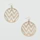 FULL TILT Round Zig Zag Cutout Earrings