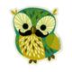 GAMA GO Mustache Owl Sticker