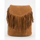 Suede Fringe Mini Backpack