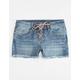 VANILLA STAR PREMIUM Lace Up Girls Cutoff Denim Shorts
