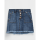 CELEBRITY PINK Exposed Button Girls Cutoff Denim Skirt