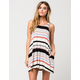 FULL TILT High Neck Striped Swing Dress