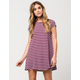GYPSIES & MOONDUST Ribbed Stripe Dress