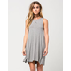 SAY WHAT? Ribbed Swing Dress