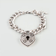 FULL TILT Heart Lock Chain Bracelet