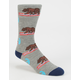 BLUE CROWN Surfin CA Bear Mens Socks