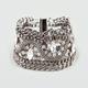 FULL TILT Rhinestone Mesh Link Chain Bracelet