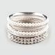 FULL TILT 8 Piece Rhinestone/Pearl Bangle Bracelets