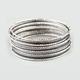Full Tilt 16 Piece Skinny Bangle Bracelets