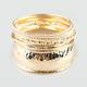 FULL TILT 9 Piece Hammered Bangle Bracelets