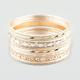 FULL TILT 17 Piece Glitter Bangle Bracelets