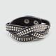 FULL TILT Pyramid Stud Faux Leather Braided Bracelet