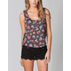 FULL TILT Floral Lace Back Womens Crop Top